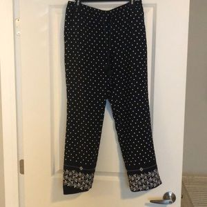Loft Navy Drawstring Pants